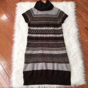Benetton Fair Isle Sweater Dress-[A10]